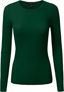 JJ Perfection Women's Knit Long Sleeve Crew Neck Thermal Top