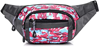 Fanny Pack 4 Pockets Waist/Bum Bag 26-44 inches Adjustable Belt for Men and Women Running, Cycling and Fishing