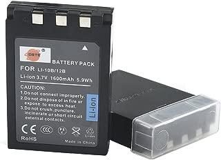 DSTE Replacement for 2X LI-10B Li-ion Battery Compatible Olympus Camedia C-70 C-770 C-5000 C-7000 D-590 X-3 X-500 Stylus 500 600 800 810 1000 Camera as LI-12B