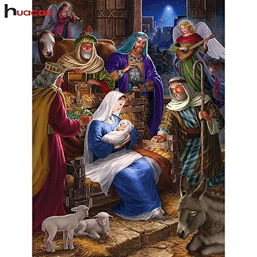 Diamante mosaico religioso para personas 5D DIY bordado diamante pintura religiosa madre e hijo cuadrado completo hogar deco-Los 40x50cm