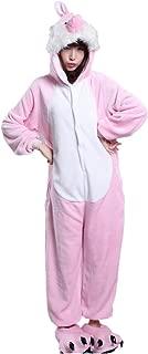 Pink Easter Bunny Rabbit One-Piece Kigurumi Pajamas Costume Cosplay S-XL