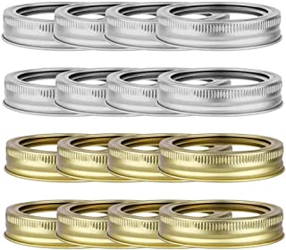 TXIN 72 Pieces 70mm Canning Rings Jar Bands Regular Mouth Replacement Rings Metal Bands, Leakproof Can Canning Screw Bands...