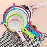 Set di 4colini da cucina con manico in plastica multiuso colino setaccio da cucina gadget 4pcs Come da immagine