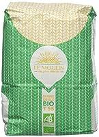 La farine de blé tendre blanche type 55 bio Idéale pour le pain, la pâte à pizza et la pâtisserie Agriculture biologique européenne