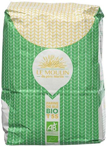 Le Moulin du Père Martin Farine de Blé T55 Biologique, 1 kg