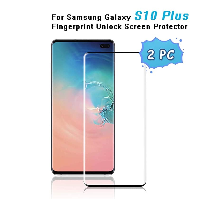 Screen Protector for Galaxy S10 Plus (6.4''), [9H Hardness][Anti-Fingerprint][Ultra-Clear][Bubble Free] Tempered Glass Screen Protector for Samsung Galaxy S10 Plus