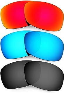 Plus Mens Replacement Lenses For Oakley Hijinx Sunglasses Red/Blue/Black Polarized