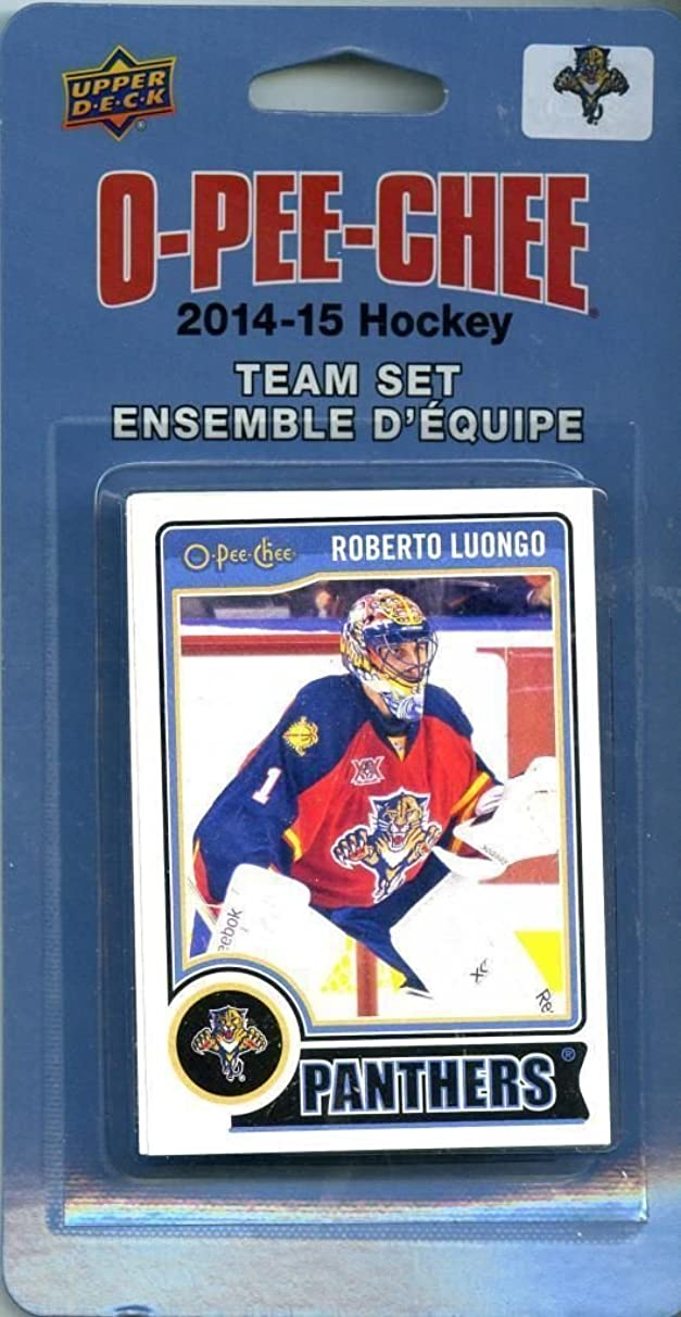 Florida Panthers 2014 2015 O Pee Chee NHL Hockey Brand New Factory Sealed 16 Card Licensed Team Set Made By Upper Deck Including Roberto Luongo, Brian Campbell and More