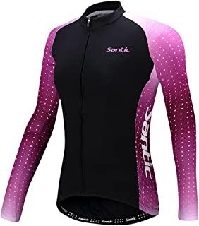 Santic Women Cycling Jersey Loog Sleeve Bike Jacket Biking Bicycle Jersey Shirt