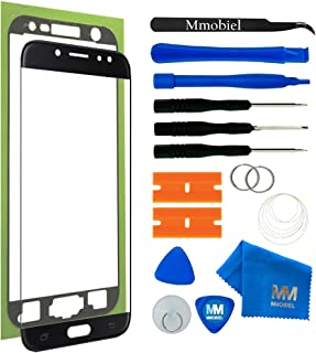 MMOBIEL Front Glass eplacement Compatible with Samsung Galaxy J7 Pro J730 (Black) Display Touchscreen incl. Tool Kit