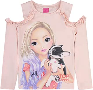 Top Model - Camiseta de manga larga para niña