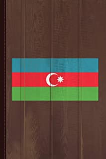 Azerbaijan Flag Journal Notebook: Blank Lined Ruled For Writing 6x9 110 Pages