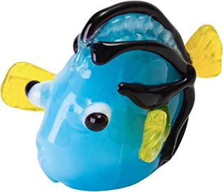 Tynies Handmade Glass Figurine with Collector's Frame - Dora Blue Hippo Tang Fish - Blue1.9
