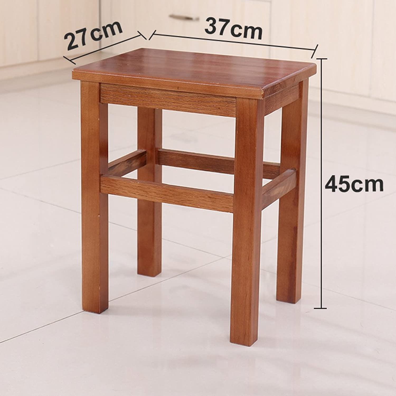 Stool Solid Wood 24  32  43cm 27  37  45cm 27  37  60cm Foyer Living Room Comfortable (color   C, Size   60CM)