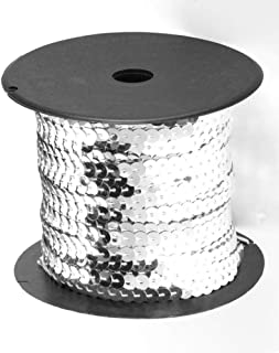 Spangle Paillette Sequins Roll Spangle Flat,String Trim DIY Projects, Sequin String Ribbon Roll for Crafts,Embellishments,...