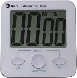 Bjerg Instruments Digital Kitchen Timer with Extra Large Digit LCD Display