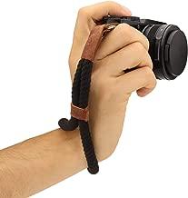 Megagear MG939 Cotton Camera Hand Wrist Strap Comfort Padding, Security for All Cameras (Small23cm/9inc), Black