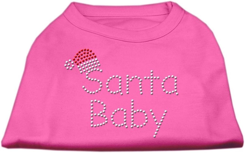 Mirage Pet Products 18Inch Santa Baby Rhinestone Print Shirt for Pets, XXLarge, Bright Pink