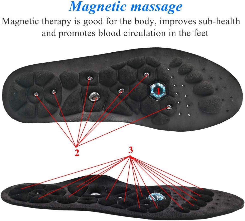 Lavable et D/écoupable EEUK Semelles de Massage de Th/érapie Magn/étique Chaussures Semelle Respirant Sant/é Points Dacupuncture de Massage Pads Semelles de R/éflexologie Plantaire