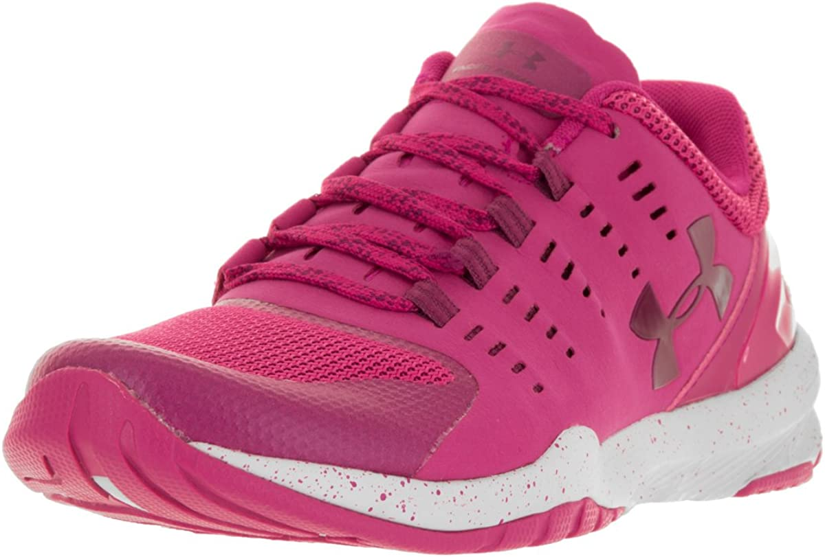 UNDER ARMOUR WOMENS ATHLETIC SHOES CHARGED STUNNER TR EXP PINK WHITE 5 M