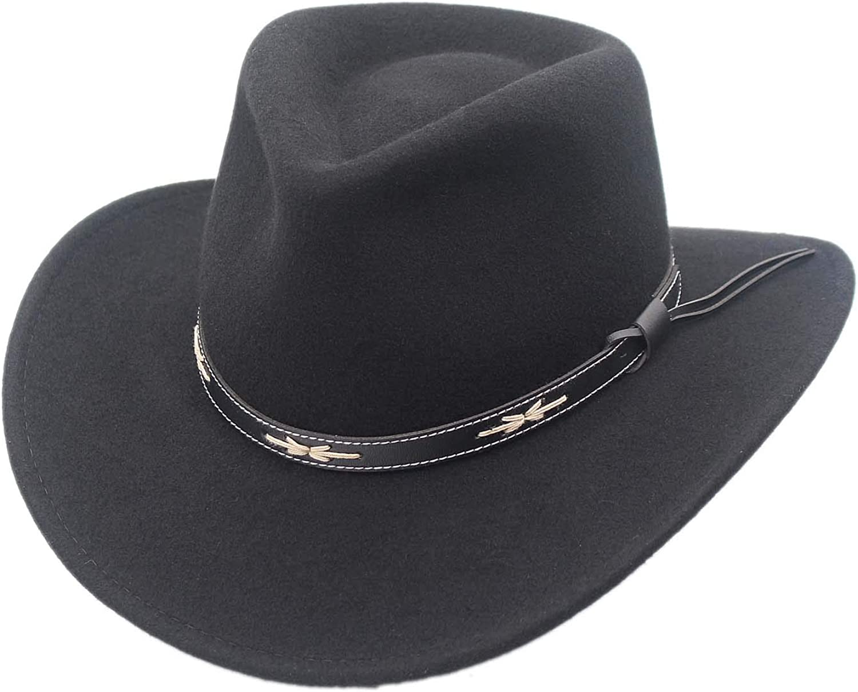 Santa Fe Over item handling ☆ Crushable Wool Felt Outback Hat Western Cowboy Over item handling ☆ Style by