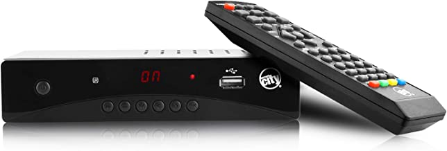 Circuit City DCB-1 ATSC HD Digital TV Converter Box with HDMI Cable Remote Control HDTV PVR TV Recording Full HD 1080p LED Time Display 2019 Model