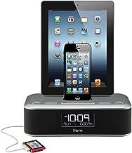 iHome iDL100 Lightning Dock Triple Charging FM Clock Radio with USB Charge/Play