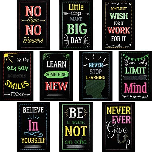 20 Pieces Motivational Posters for Classroom Inspirational Positive Quote Wall Poster Art Prints product image