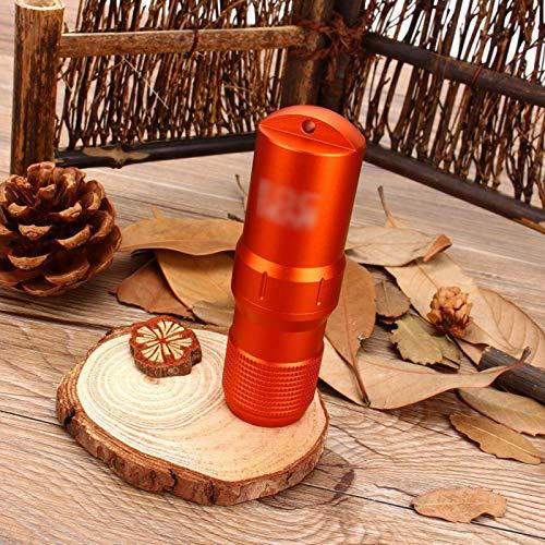 Botella de tubo impermeable naranja, para exterior