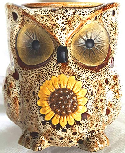 Electric Ceramic White Spotted Owl Wax Melt Warmer