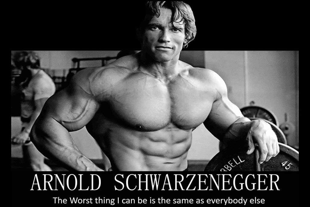Vintage 1980s body building trophy  figure plaster kitsch retro Arnold Schwarzenegger