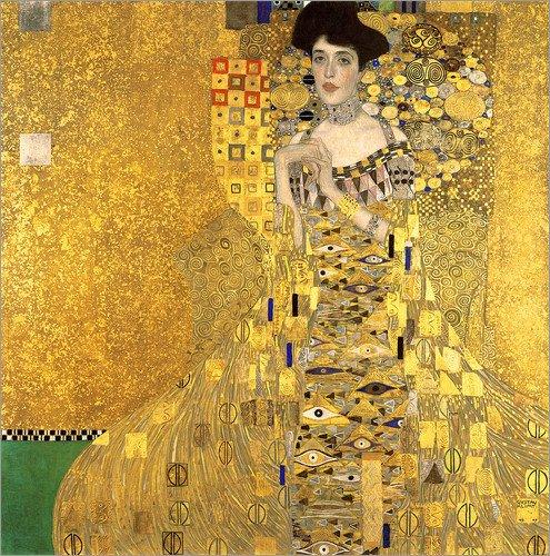 Posterlounge Acrylglasbild 70 x 70 cm: Adele Bloch-Bauer I von Gustav Klimt - Wandbild, Acryl Glasbild, Druck auf Acryl Glas Bild