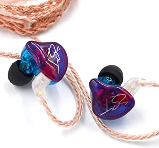 KZ ZST Pro 3.5mm Wired In Ear Headphones w/Microphone HiFi Music Earphones Sports Headset with Replacement Earphone Cable ...