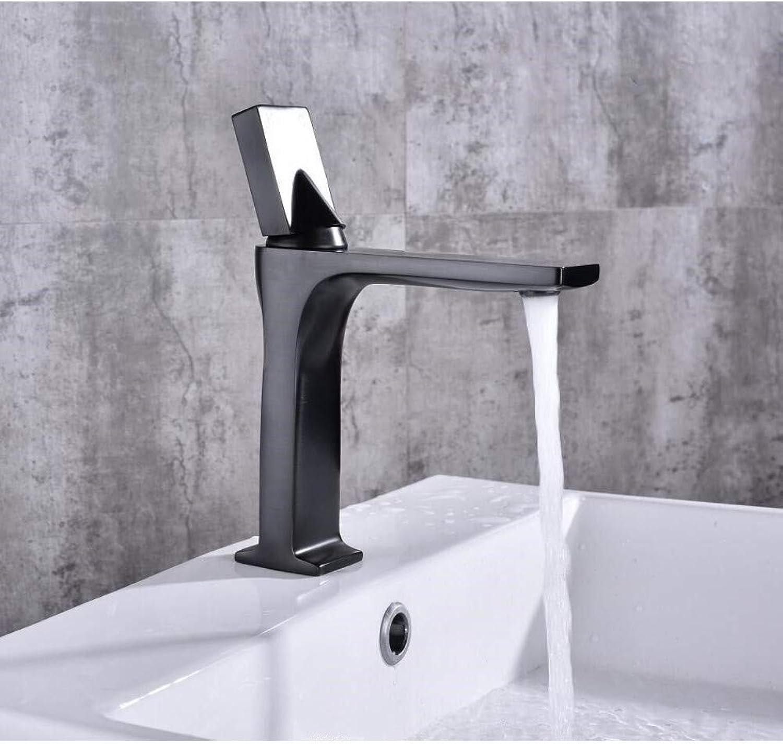 YHSGY Kitchen Taps Black Chrome Basin Faucets Modern Bathroom Mixer Tap Brass Washbasin Faucet Single Handle Single Hole Elegant Crane for Bathroom