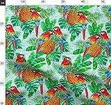 July2016pineapples, Papageien, Tropisch, Wasserfarben,