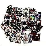 50 Pcs/Pack Anime Tokyo Ghoul Stickers Waterproof Skateboard Laptop Graffiti Stickers(Tokyo Ghoul)