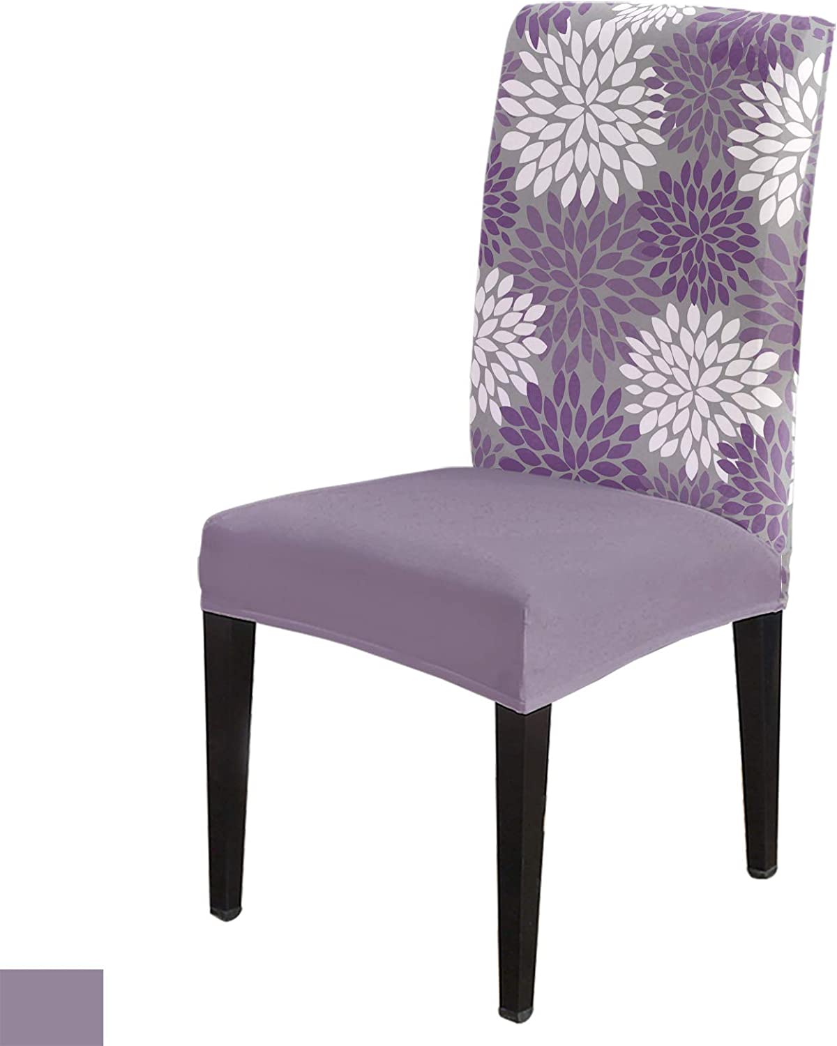 Dining Room Chair 67% OFF of fixed price Covers Sets Mesa Mall Purple White and Flower Pr Dahlia