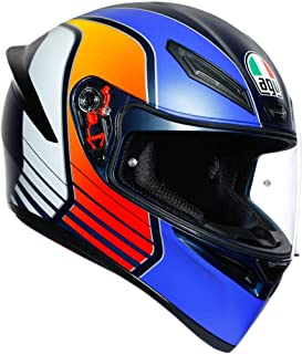 AGV K1 Power Adult Street Motorcycle Helmet - Blue/Orange/White/X-Large