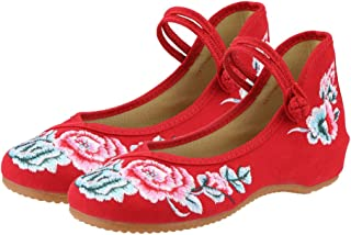 CINAK Embroidered Chinese Style Flats Ballet Women's Shoes Comfort Loafers