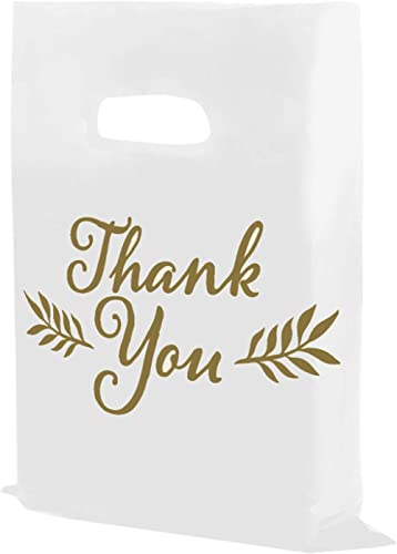 "Houseables Thank You Merchandise Bags, Retail Shopping Goodie Bag, Plastic, 16"" x 18"", 100 Pk, Low Density, 1.75 Mil ..."