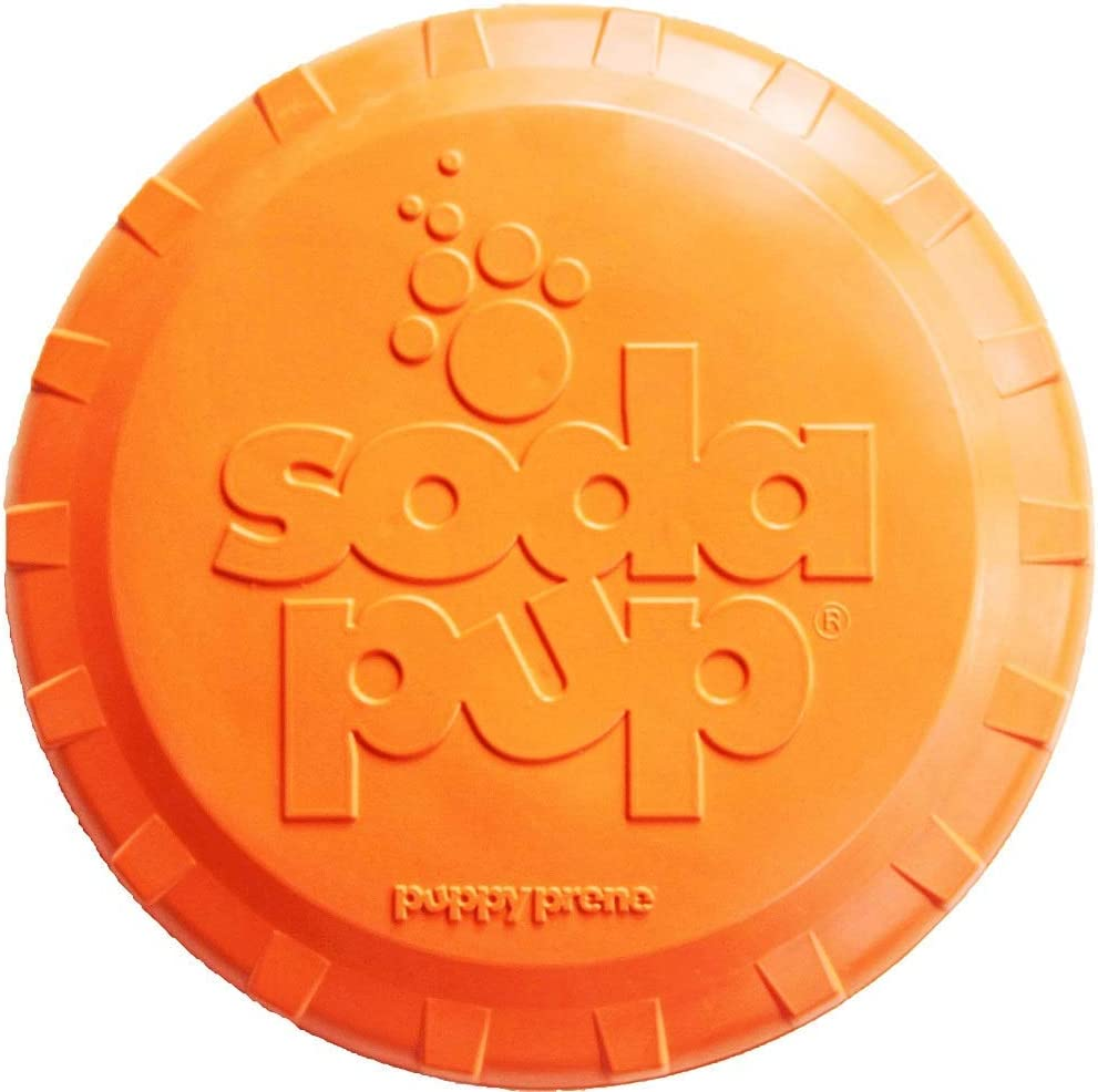 SodaPup Flying Disc Top - Our shop most popular Tough Interactive Directly managed store Dog Toys