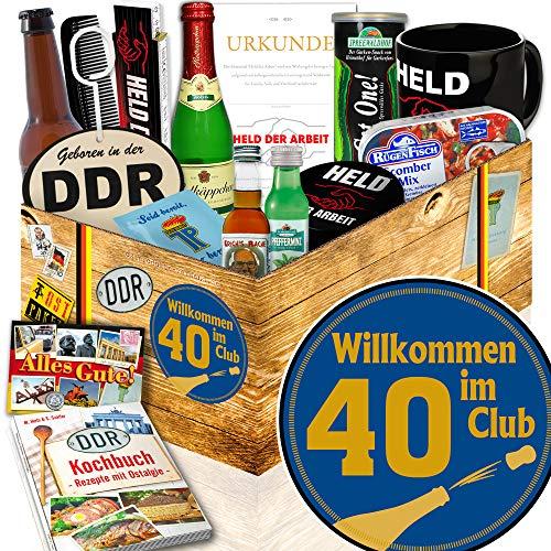 Wilkommen im Club 40 / Geschenke zum 40 Geburtstag / DDR Männerbox DDR