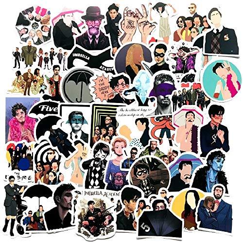 LZWNB Umbrella Academy American Drama Personality Sticker Pvc Graffiti Sticker Maleta Equipaje Guitarra Impermeable Etiqueta 50pcs