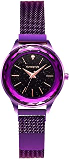 Gypsophila -Fashion Noble Lady Wristwatch, Classic Ms Waterproof Watch,Leisure Sports Diver Women's Watches,Purple
