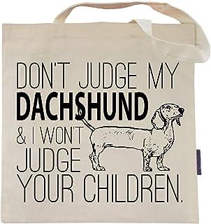 Don't Judge My Dog Tote Bag by Pet Studio Art