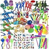 Mattelsen Juguetes Cumpleaños Infantiles Juguete del Partido Favor 120 Pcs Juguetes para Rellenar piñatas y Bolsas de Regalo de Fiestas de cumpleaños Infantiles o para el Colegio