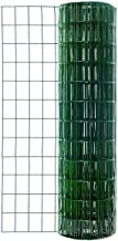 39.3 inch x 98.4 Feet Green Garden Fence PVC Coated Welded Wire Fence with 2.4 x 2.4 inch Openings
