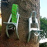 RENHAN Antiscivolo Picchi D'albero Copriscarpe,Acciaio Inossidabile Strumento di Arrampicata su Alberi,Ramponi Portatili Adatto per Scegli I Pinoli,Raccogliere Frutta,Noce di Cocco