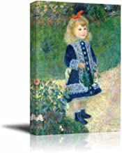 A Girl with a Watering Can by Auguste Renoir - Canvas Print Wall Art Famous Painting Reproduction - 16