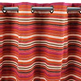 MonbeauRideau Marruecos-Cortina de algodón 150 x 250, Color Rojo